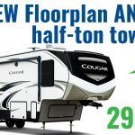 The Cougar 29MBS – all new fifth wheel floor plan AND it's half-ton towable!