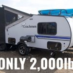 The Coachman Clipper 12TD –  Only 2k lbs and it's LOADED!